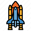 launch, rocket, space, spacecraft, spaceship, transport icon