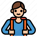 avatar, boy, people, profile, school, student icon