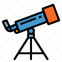 observation, science, space, telescope icon
