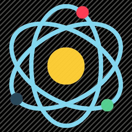 Science, chemistry, physics, atom icon