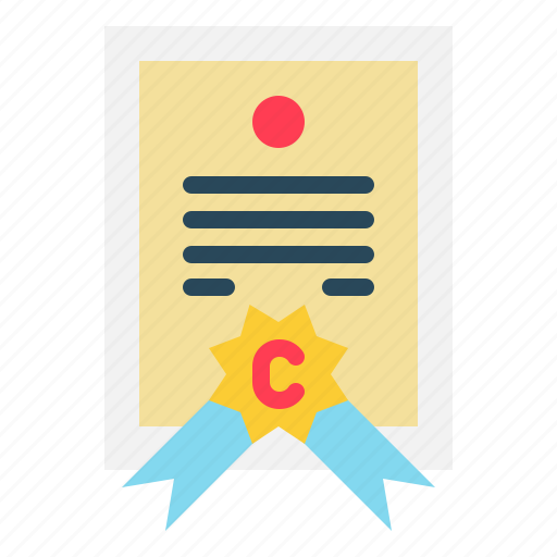 Certificate, seal, file, license, diploma icon - Download