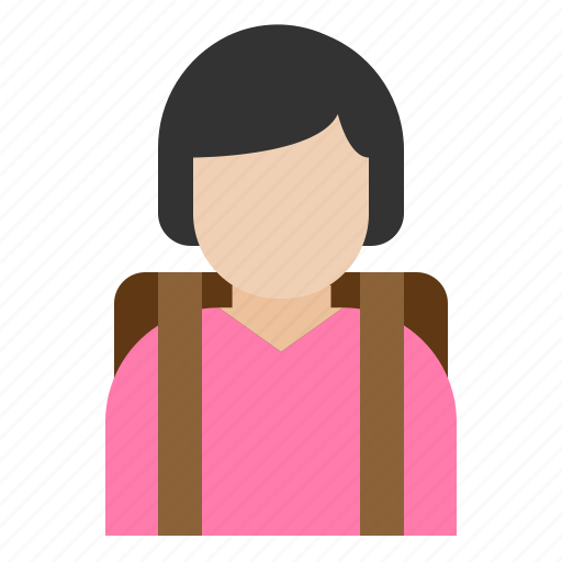 child, girl, kid, student icon