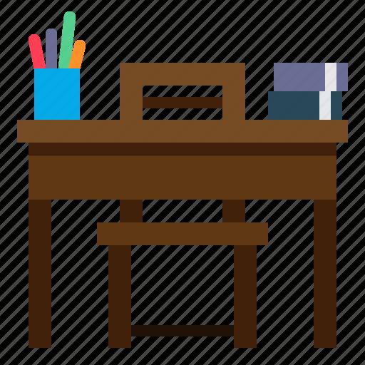 desk, education, school, student, table icon
