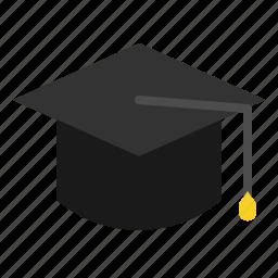 cap, education, graduate, graduation, mortarboard, scholar icon