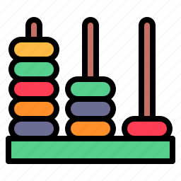 abacus, calculate, math, school icon