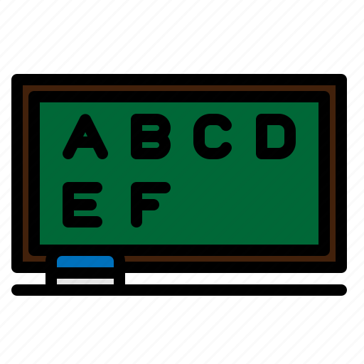 blackboard, board, presentation, school icon