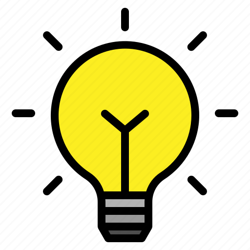 Light bulb bright idea. Blub lightbulb solution icon