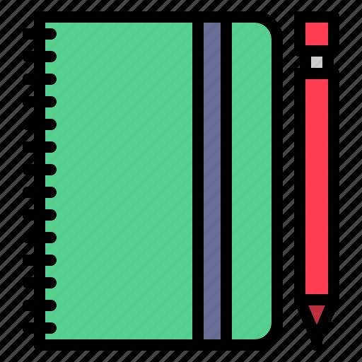 book, diary, note, organizer icon