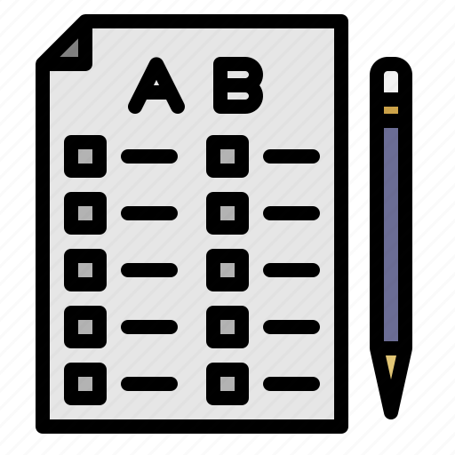 checkmark, documents, sheet, test icon