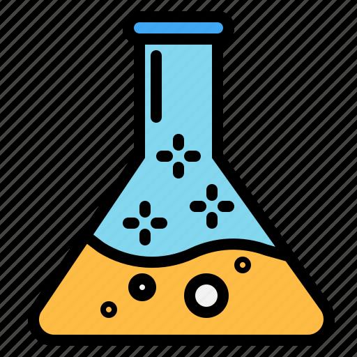 chemical, flask, liquid, scienc icon