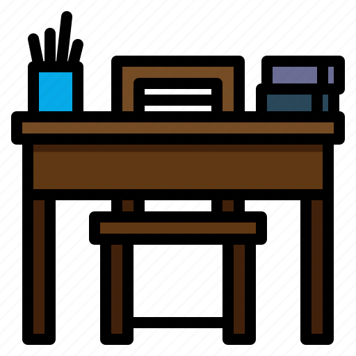 desk, education, school, student, table icon