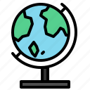 desktop, earth, globe, map, model, world icon