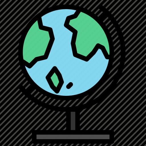 desktop, earth, globe, map, model, world icon