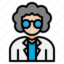 education, learn, professor, school, scientist, teacher icon