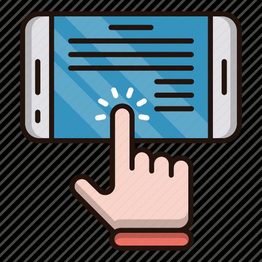 ebook, education, mobile, online, school, study icon