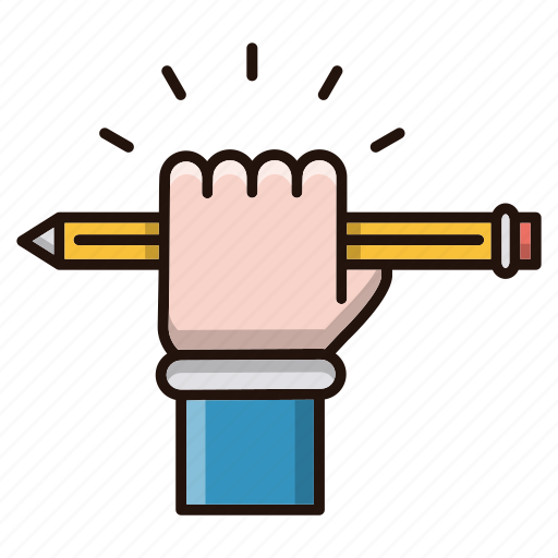 education, hand, school, study icon