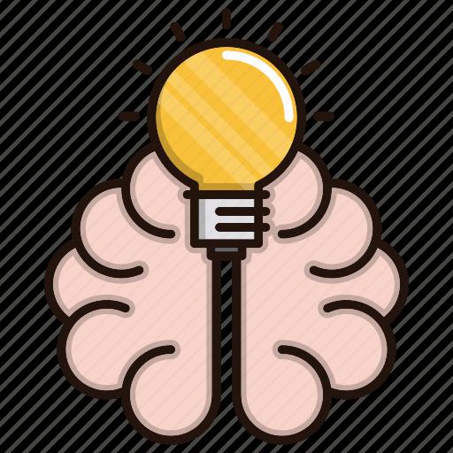 brain, education, idea, knowledge, ming, school, study icon