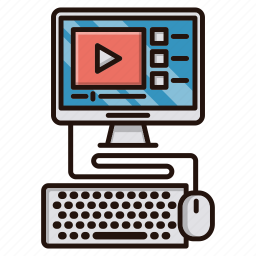education, lessons, online, school, study, video icon