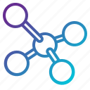chemical, molecule, structure icon