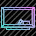 blackboard, class, education, eraser, school icon