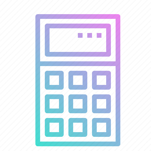 calculating, calculator, math, technological, technology icon