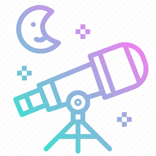 education, observation, science, space, star, telescope icon
