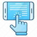 device, ebook, education, magazine, online, tablet icon