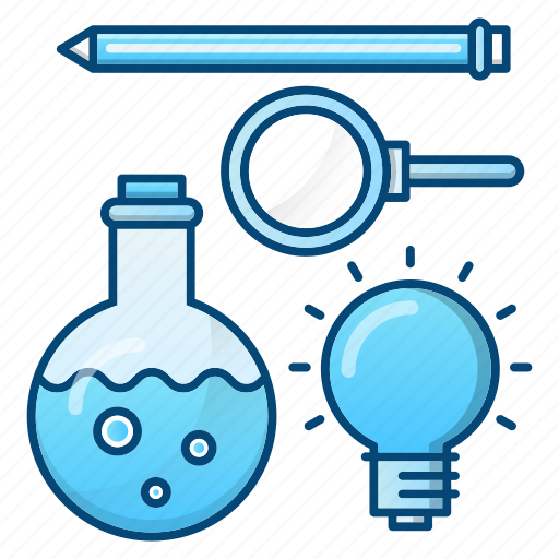 education, formal, learn, science, tools icon
