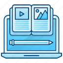 education, learn, material, online, tools icon