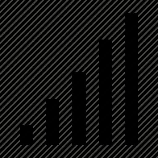 analytics, bar chart, bar graph, diagram, infographics icon