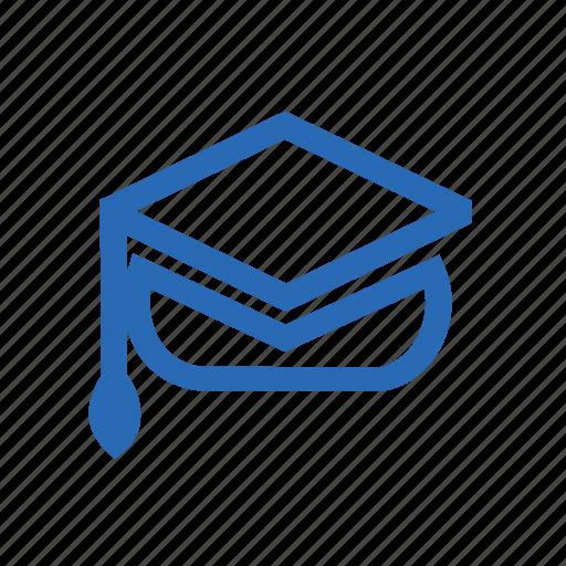 cap, graduate, graduation, hat, school, student icon