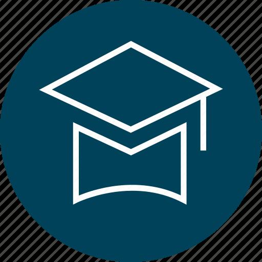 cap, education, graduation, online, school icon