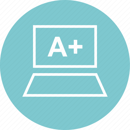 a, education, laptop, learning, plus, school icon