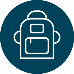 back, education, learning, pack, school icon