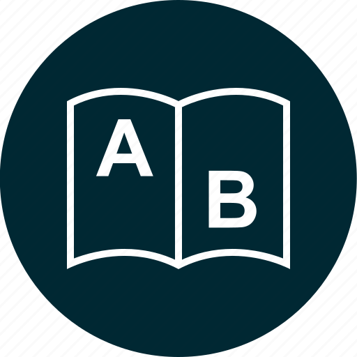 ab, book, education, learning, school icon