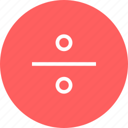 division, education, learning, school, sign icon