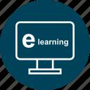 e, education, learn, learning, online, school icon