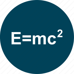 education, formula, learning, school icon