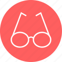 education, glasses, learn, learning, school icon