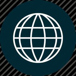 education, globe, internet, learning, school icon