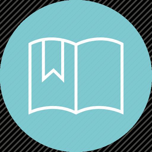 book, education, learning, open, ribbon, school icon