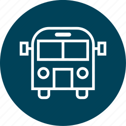 bus, education, learning, school icon