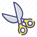 education, scissors, stationary icon