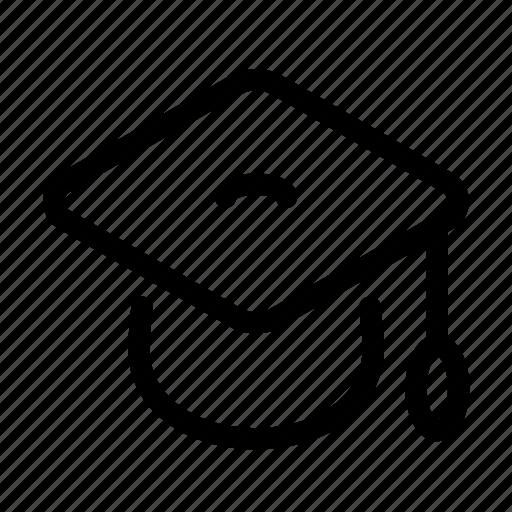 cap, college, education, graduation, learning, school icon