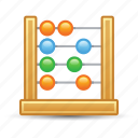 abacus, calculator, education, math icon