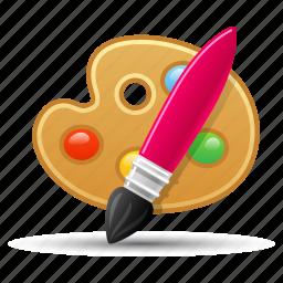 art, graphic design, paint brush, palette, web design icon