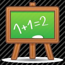 blackboard, education, math, school icon