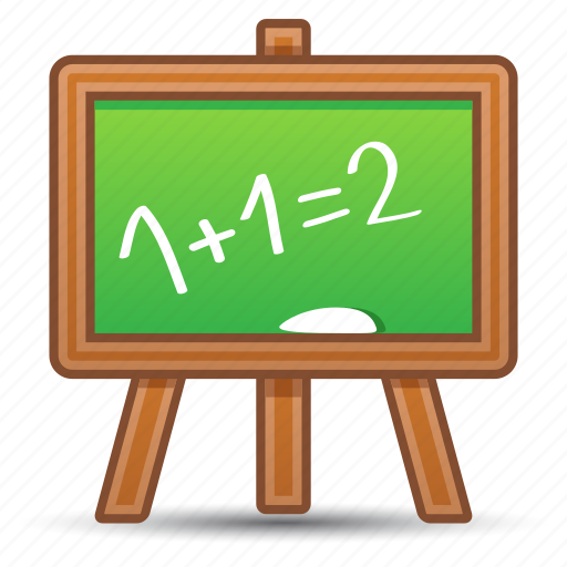 blackboard, education, math, school icon