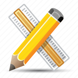 education, graphic design, pencil, ruler icon