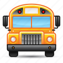 education, school bus, transportation icon